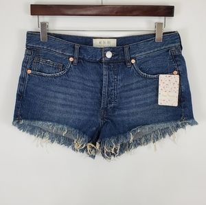 Free People Button Fly Women's Jean Shorts